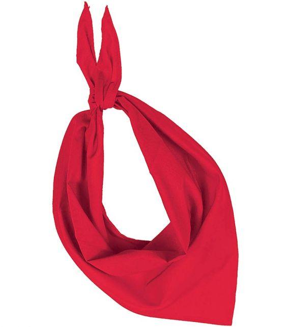Foulard féria rouge personnalisé par broderie