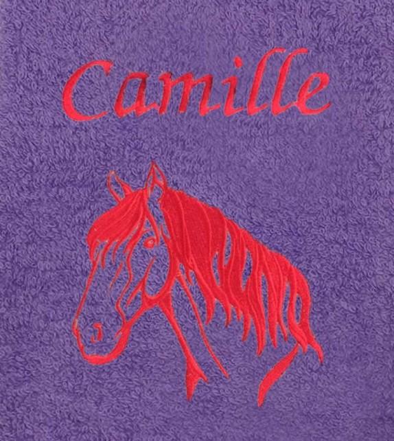 drap de bain 100x150 cheval personnalis. Black Bedroom Furniture Sets. Home Design Ideas