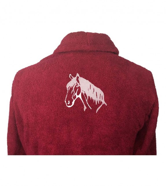 """PERSONALISED /""""Horses Head Design/"""" Embroidered Polo Shirt Choice of Colours"""