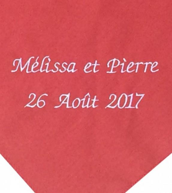 Version petit prix (1.90 E TTC pour 100 foulards) en Impression numérique.  Suivez ce lien... Foulard féria rouge personnalisé ... 93c2125fa83